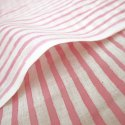 Hand Block Stripe Print Cotton Fabric Natural Color