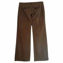 Brown Cotton Men's Trouser