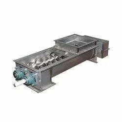 Metallic Grey Carbon Steel Screw Conveyors, Capacity: 100 Kg