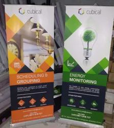 eco solvent non tarable Standees Printing Service, in Bangalore, Dimension / Size: 3 X 6 Feet