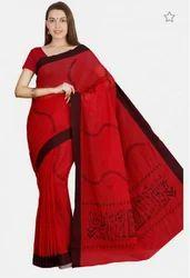 Handloom Cotton Embroidered Saree