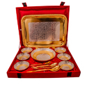 Silver & Gold Plated Dinner Set