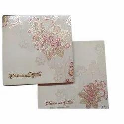 Cardboard Pull-out Insert Designer Wedding Card