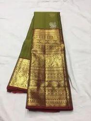 Wedding Wear Printed Kanchipuram Pure Silk Sarees