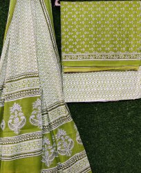 Hand Block Printed Cotton Salwar Suit Dress Material