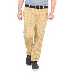 Cotton Check Printed Men Pants