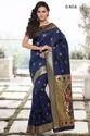 Blue Heavy Cotton Silk Sarees