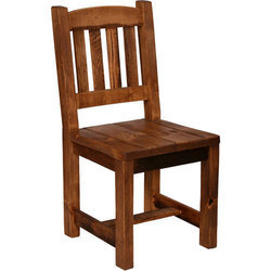 Wooden Square Armless Chair, Height: 3 to 4 feet