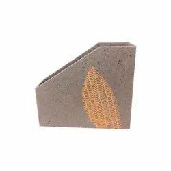 Coffee Brown Handmade Paper File Holder