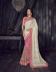 Designer Wedding Wear Heavy Embroidery Saree