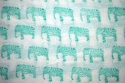 Hand Block Cotton Indian Printed Fabric Sanganeri Printed Soft Fabric Cambric Fabric Soft Dress