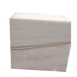 White Glossy Polished Finished Makrana Marble, Thickness: 10-15 mm