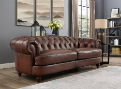 Brown Modern Luxury Leather Sofa, For Home