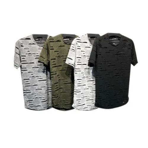Cotton Round Men's Casual T Shirts