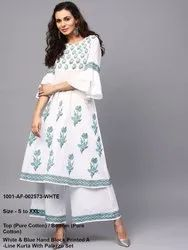 Hand Block Kurta with Palazzo Set