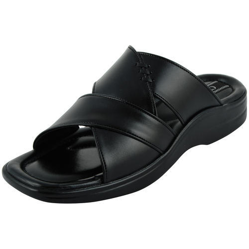 4b3017e80 Men Black Chamois Slippers