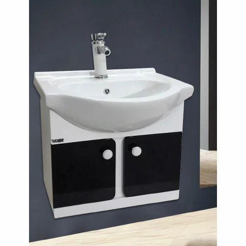 Toyo White Black White Red 22 Inch Pvc Bathroom Vanities Cabinet Size 560 X 430 Mm Id 19487973948