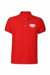 Male Red Cotton Polo T Shirt