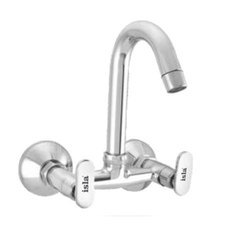 Brass Silver Color Sink Mixer, Packaging Type: Box