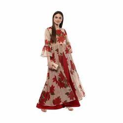 Ladies Designer Red Kurta