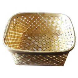 Bamboo Rectangular Designer Basket Natural (Without Handle)