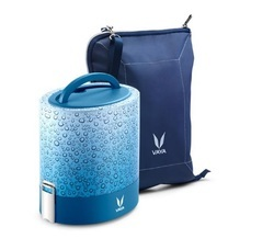 Vaya Tyffyn Copper Coated Lunch Box with Bagmat Set, 1000ml