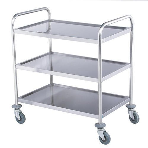 SA Instruments Heavy Stainless Steel Service Trolley, for Hospital