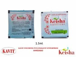 keisha Disposable Hand Sanitizer, Type Of Packing: Sachet, Pack Size: 1.5 Ml