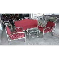 5 Seater Stainless Steel Sofa Set