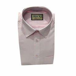 Mens Cotton Pink Shirt, Size: 36-46