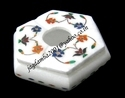 Handcrafted Marble Ashtray With Inlay Work