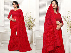 Pr Fashion Launched Lovely Red Colored Saree