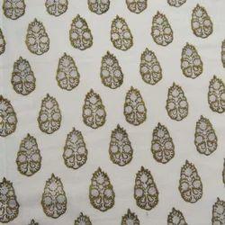 Small Buta Hand Block Print 100% Cotton Fabric