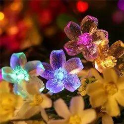 Non branded Multicolor Led Flower Light, For Decoration, 10