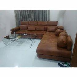 Modern Designer Leather Sofa Set