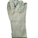 White Industrial Leather Hand Gloves
