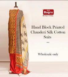 Block Printed Chanderi Suits Sets