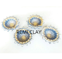 Remi 4 Decorative Clay Diya Set