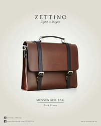 Genuine Buf Leather bag, Size: Medium