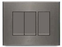 Caprina Series Magnesium Grey Switch Plate