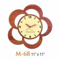 Brown Analog M-68 Wooden Wall Clock