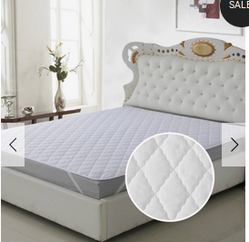 Signature Elastic Strap King Size Mattress Protector White Bed Pads