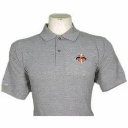Mens Corporate Grey Plain Polo T-Shirt