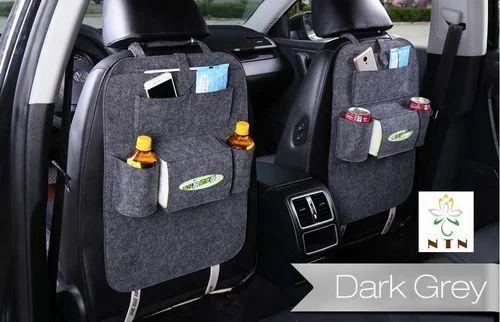 NTN Grey And Light Gray Car Seat Back Organizer