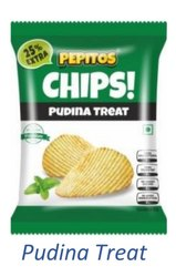 Fried Pepitos Pudina Potato Chips Wafers, Packaging Size: 18 Grams