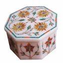 White Italian Marble Stone Box