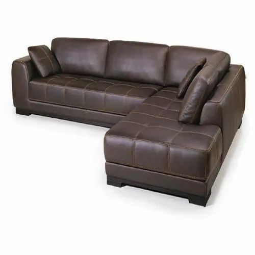Leather L Shaped Sofa Set