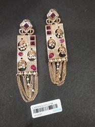Kundan Hanging Fashion Earrings