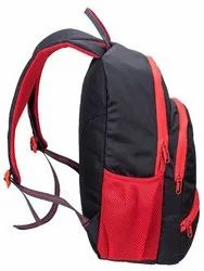 Polyester Red and Black College Backpacks Bag