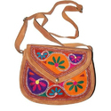 Ladies Leather Embroidered Bag